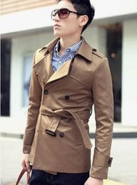 $enCountryForm.capitalKeyWord Australia - XS-3XL 2019 New spring and autumn Male trench coat Korean men clothing slim short trench design double breasted coats