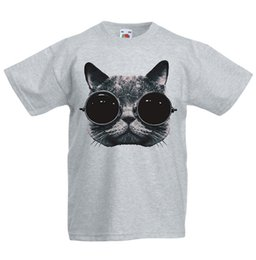 boy cat pant Australia - Cat Wearing Glasses Kid's T-Shirt Children Boys Girls Unisex Top metallica fan pants t shirt fear cosplay liverpoott tshirt