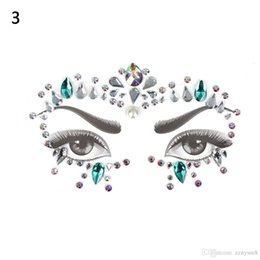 Body crystal stickers online shopping - r Tattoo Stickers Face Jewels Gems Music Festival Party Makeup Body Jewels Flash Face Crystal Sticker Bikini Decoration