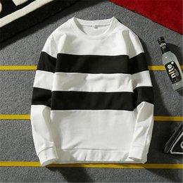 $enCountryForm.capitalKeyWord Australia - Fashion Men's Oversized Hoodies Plus Size Street White Black Striped Loose Baggy Hoody Long Sleeve Hoodie Men For Hipster Brand
