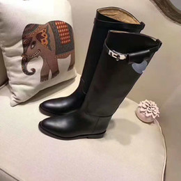 Best Nude Flats Canada - best quality! free ship! u503 40 41 42 genuine leather buckle knee high boots h black grey luxury classic flat ridding celeb