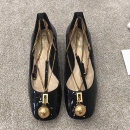 0377917fa 2019 new high quality fashion shallow shoes metal design womens shoes