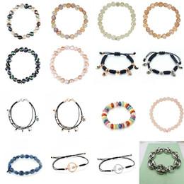 StainleSS Steel bear jewelry wholeSale online shopping - Cute Bear Pearl Bracelet Stainless Steel Little Girl Bracelets for Women Adjustable Handmade Bracelet Charm Women Jewelry