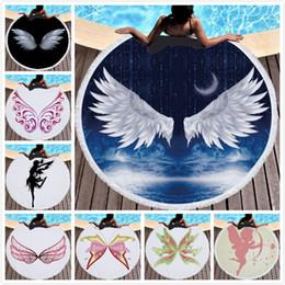Halloween Towels Australia - Angel Wings Blanket Beach Towel Microfiber towels Blankets Superfine Fiber Beach Accessories Sport Towel 10 Styles Free Shipping