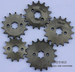 quad buggies Canada - 428 10-19 Tooth 20mm ID Front Engine Sprocket for Stomp Upower Dirt Pit Bike ATV Quad Go Kart Moped Buggy Scooter Motorcycle
