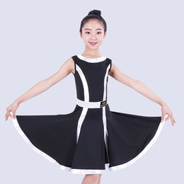 $enCountryForm.capitalKeyWord UK - Latin Dance Skirt For Girl White Black Red Sleeveless Rumba Practice Dresses Kids Professional Samba Performance Costume DQL1318
