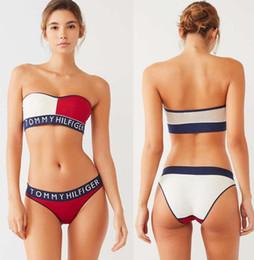 Wholesale tow pieces resale online – women Letter Designer Bikini set Swimwear For Women Sexy DressS XL bathing suit Bodysuit Beach Summer tow Piece Sexy Swimsuit feier222