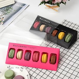 $enCountryForm.capitalKeyWord Australia - Macaron Packing Box Wedding Party Cake Storage Biscuit Paper Plastic Box Cake Decoration Baking Accessories Y0134