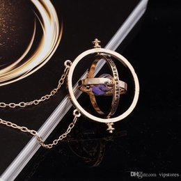 Trendy Pendant Necklace Rotating Hourglass Spins Necklace Gold silver Hourglass timer Collar colgante envío gratis