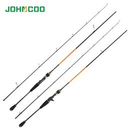 Bass Two NZ - Fishing Rod 2.1m Baitcasting Rod and Spinning Fishing Pole Bass Tackle Lure Cane Two Sections Pesca