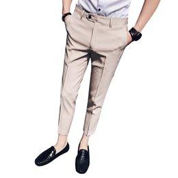 stylist suit 2019 - 2019 summer men's nine points suit pants hair stylist feet pants thin section men's self-cultivation casual 9