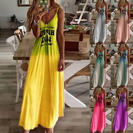 dresses states UK - Autumn Europe and the United States 2019 new spot wise hot sell slim letter printed long dress spot