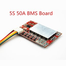 electronics boards NZ - Consumer Electronics 5S 50A BMS   55A 3.7V Lithium battery protection  3.2V iron phosphate LiFePO4 battery BMS board with Balance