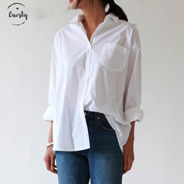 Plus size blouse short sleeve online shopping - Blouse Women Shirts Autumn New White Fashion Collar Plus Size Long Sleeve Buttons Shirt Women Tops Streetwear