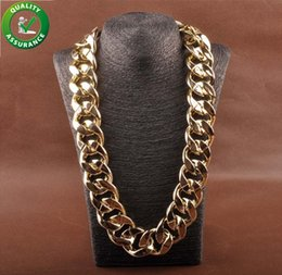 Chunky Curb Chain online shopping - Curb Cuban Link Chain Hip Hop Thick Long Necklace Fashion Designer Jewelry Men Big Chunky Vintage Choker Iced Out Rapper Accessories