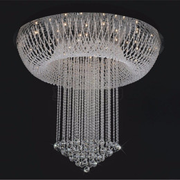 $enCountryForm.capitalKeyWord Australia - Modern Minimalist LED Crystal Chandelier Lightig Living Room Light Staircase Oval Ceiling Lamp Creative Bedroom villa chandelierD80*H100