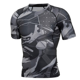 d577c89cf16f Mens T Shirts Fahion 2019 Summer Oversized Brand Men T Shirt Bodybuilding  Camouflage Black Compression Shirt Fitness Clothing
