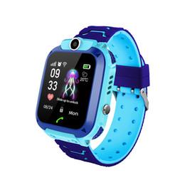 Gps Smart Watch Phone For Kids Australia - Kaze Kids Smartwatch GPS Tracker SOS Call Smart Watch for Children Phone Fitness