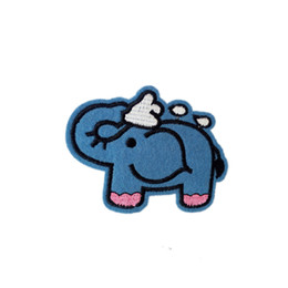 Sewing Cloth Wholesale Australia - Embroidered cloth patch 8cm * 6.1cm elephant appliques Back gum Iron sewing decorative patch kids T-shirt jeans accessories DL_CPIA031