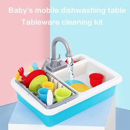 $enCountryForm.capitalKeyWord NZ - Simulation automatic wash-up kitchen sink small pool circulation water dishwashing set Boy and girl pretend play toys