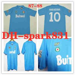 1b3bb6e61 87 88 Italia SSC Napoli Retro jerseys Maradona #10 Calcio MAGLIA rétro  maillot de foot 1987 1988 Napoli Classic Vintage Maillots de fo