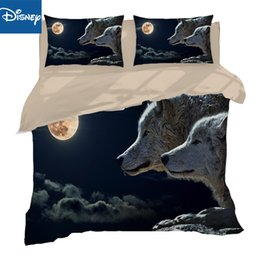 cool bedding Australia - sexy cool wolf bedding sets US full size duvet comforter cover 3 4pcs AU full queen size boy linens 3d bed clothes animal print