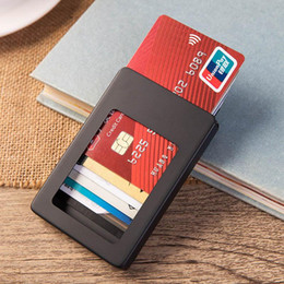 Gold Boxing Trunks Australia - Free shipping Brand Quality Credit Card Holder Waterproof Cash Money Pocket Box Aluminum Business Men ID Card Holder Gift Wallets