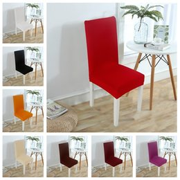 $enCountryForm.capitalKeyWord Australia - Semi-elastic cover Pure color hotel dining chair and chair cover Simple wedding banquet table and chair cover cushion T3I5045
