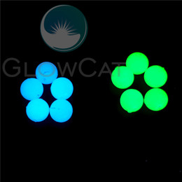 night glowing plastic NZ - 10pcs Night Luminous Beads 10 12mm Noctilucent Light Gem Stone Beads for Locket Necklace Pendants Glow In Dark DIY Jewelry