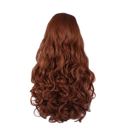 $enCountryForm.capitalKeyWord UK - Hair Care Wig Stands Women's Fashion Wig Lady Brown Long Curly 75cm Natural Costume Rose Net Professional Feb25