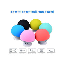$enCountryForm.capitalKeyWord Australia - Portable Bluetooth Speaker Wireless Handsfree Mushroom Speaker With Sucking Disc Bracket for iphone samsung MP3 pad tablet pc with retail