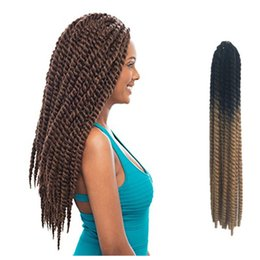 Havana mambo Synthetic hair extensions twist crochet braids hair Ombre Color 22inch Hot sale