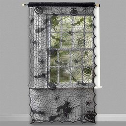 $enCountryForm.capitalKeyWord Australia - Scary Simulate Spider Web Lace Door Window Curtain for Halloween Party Decor LED Holiday Atmosphere Decoration