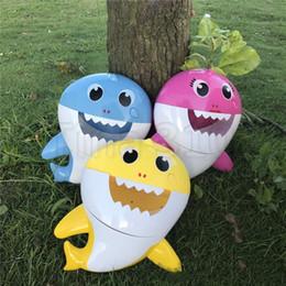 $enCountryForm.capitalKeyWord Australia - Hot Baby Shark Bath Bubble Maker With Music Kids Bath Toy Pool Swimming Bathtub Soap Machine Shower Companion 5072