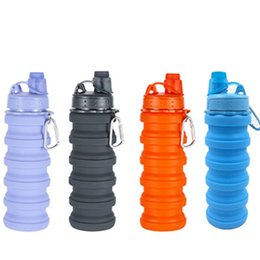 Camping bottles online shopping - Creative Camouflage Water Bottle Silicone Fold Telescopic Tumbler Sports Drinks Cups Fit Hiking Camping Equipment ml ZZA1029
