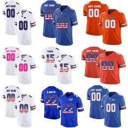 $enCountryForm.capitalKeyWord NZ - Custom Florida Gators College Tim Tebow Emmitt Smith Jeff Driskel NCAA USA Flag Fashion Customize University Football Uniform Jerseys