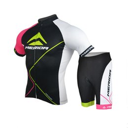 merida cycling jersey sets NZ - MERIDA team Cycling Short Sleeves jersey shorts sets cycling clothing breathable outdoor mountain bike Sportswear mens Y61228