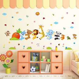 Wall Stickers For Classrooms Australia - Animal radish living room bedroom bedside nursery classroom cartoon children's room decorative wall stickers