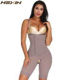 3ef0c38e22 HEXIN Slimming Women Full Body Shaper Tummy Control Waist Cincher Underbust  Removable Shoulder Strap Butt Lifter Shapewear Plus