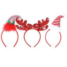 0a03d5d634cea 3PCS Reindeer Santa Claus Antlers Christmas Hair Accessories Headbands for  Christmas Toys Custume Party Supplies Festival