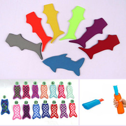 shark accessories UK - Neoprene Popsicle Holders Kids Shark Style Ice Lolly Colorful Summer Pop Ice Cream Cover Kitchen Accessories Popsicle Holder BH1687 TQQ