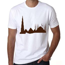 $enCountryForm.capitalKeyWord Australia - Arab t shirt Burj Khalifa Tower short sleeve tees Nice view tops Fadeless print clothing Pure color colorfast modal tshirt
