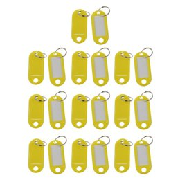 $enCountryForm.capitalKeyWord Australia - 20 Pcs Assorted Key ID Label Tags Split Ring Keyring Keychain (Yellow).