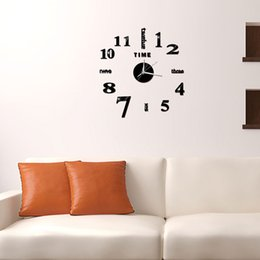 fashion wall clocks stickers NZ - 3D Mirror Mural Diy Wall Stickers Removable 4 Color Home Decor Self-Adhesive TV Background Fashion Cool Bedroom Clock Acrylic