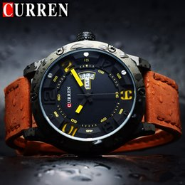 men watch leather curren Australia - CURREN Watches Men Watch Man Leather Sports Watches Men's Army Watch Man Quartz Clock Relogio Masculino