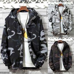 $enCountryForm.capitalKeyWord Australia - Men's Camouflage Jackets Male's Zipper Sport Hoodies Coat Autumn Outdoor Cycling Jacket Hoodie Hip Hop Streetwear Sportwear Mens
