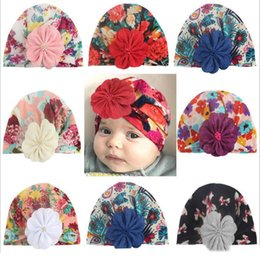 vintage beanies hats Australia - Baby Hats India Bohemian Floral Caps Newborn Printed Crochet Hat Toddler Vintage Fashion Beanie Infant Winter Lovely Caps Accessories