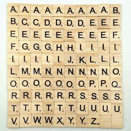 $enCountryForm.capitalKeyWord Australia - Wooden Alphabet Scrabble Tiles Black Letters & Numbers For Crafts Wood