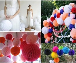 "party decoration honeycomb NZ - 6"" Decorative Paper Balls Tissue Party Decorations Paper Honeycomb Ball Pom Lantern Party Decor Craft Wedding Event Party New 15cm"