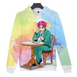 japanese clothes sweatshirt Canada - New 3D Printed Saiki Kusuo no psi nan Cosplay Costume hooded Sweatshirt 3D Anime Hoodie Men women Japanese Kawaii Clothing